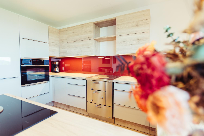 Voll ausgestattete Küche - Ferienwohnung Pension Stern - Aldein